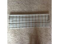 Roman blind Silver and duck egg blue Approx 72cms x 130cms Excellent condition
