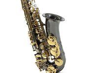 Black and gold alto sax
