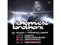 2 x tickets for The Chemical Brothers