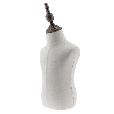 1-2 Years Old Childkids Body Dress Form Mannequin Display White Linen Cover