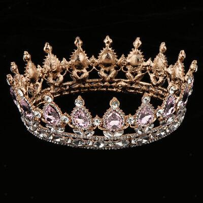 Barockstil Königin Kristall Wassertropfen Tiara Braut Krone Headwear ()