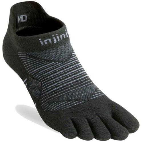 Injinji Run Lightweight No-Show Coolmax Zwart - 44-47