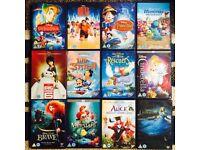 12 Disney DVDs