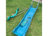 TP Kids plastic slide, normal swing and twin swing. FREE.