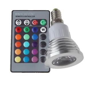 3W E27 MR16 GU10 E14 5 Mode RGB LED AC85-265V 16 Color Change Bulb Light +Remote