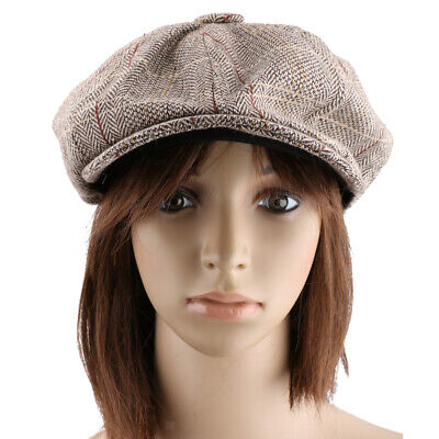 Phenovo Newsboy Golf Flach  Tweed Sonnenhut Land - Tweed Newsboy Hut