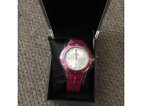 French connection pink analog watch.