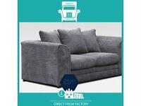 👜HALO New👜2 Seater £169 3 Seater £195 3+2 £295 Corner Sofa £295-Crushed Velvet Jumbo Cord Brand👜