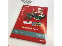 CANON A3 MATTE PHOTO PAPER - FOR SALE