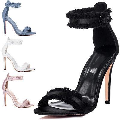 Womens Adjustable Buckle High Heel Sandals Shoes Buckle Womens High Heel