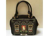 Lulu Guinness black jewellery shop small handbag