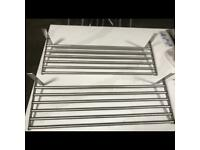 Stainless steel IKEA shelves