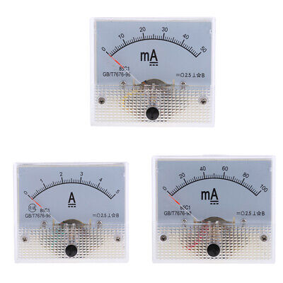 3pcs Dc 0-5a 0-100ma Analog Amp Panel Meter Gauge Current Ammeter Class 2.5