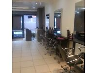 Hair beauty salon with a 2 bed flat ..... reduce price sell asap
