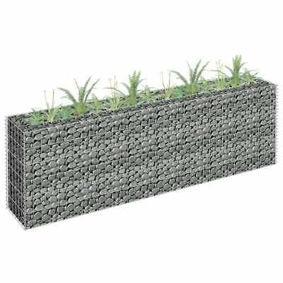 vidaXL Gabion Raised Bed Galvanised Steel 180x60cm Garden Gabion Planter Pot