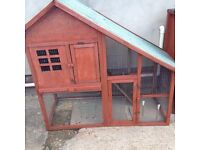 Guinea/rabbit cage suitable for 2 Guinea pigs or 1 rabbit recently painted removable roof £25