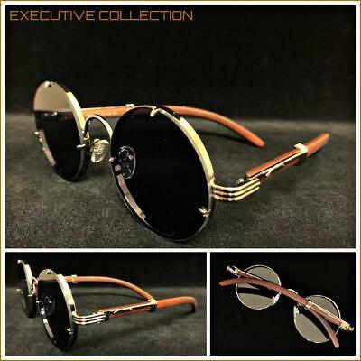 Men's Classy Elegant Exotic LUXURY Fashion SUNGLASSES Round Frame Dark Tint (Elegant Sunglasses)
