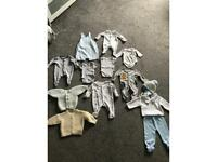 Baby's boy clothes tiny baby/newborn- 3months