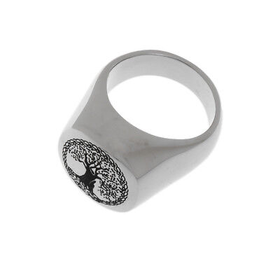 Trendy Cremation Ash Rings Tree Of Life Stainless Steel Memorial Urn Jewelry Memorial Tree Ring