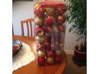 Large box of Xmas baubles