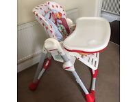 Chicco Polly (Red) 2in1 Highchair, 6 months to 3 yrs, Excellent Condition