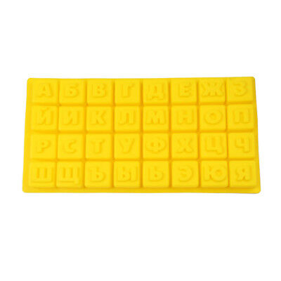 Russian Alphabet Letters Silicone Cake Baking Mold Tray For Chocolate Jelly