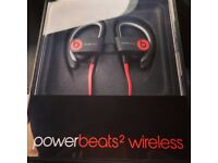 Beats by Dr Dre + *Free Smart Watch*, Powerbeats 2 **Brand New**, Wireless Black and Red Power Beats