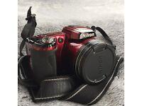 Nikon Coolpix L110 Compact Digital Camera - Red