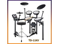 ROLAND V DRUMS TD-11 KV electronic drum kit FULL MESH & 3 zone ride kick pedal stool headphones key