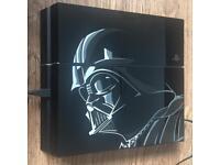 PS4 Star Wars Ltd Ed 1Tb + Street Fighter 5 Console Darth Vader PlayStation 4