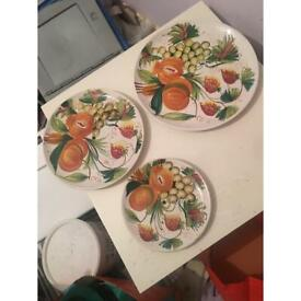 Old retro cake stand plates 1950s