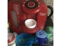 Red tommee tippee milk prep machine