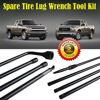 Spare Tire Lug Wrench Jack Tool Kit for Chevy GMC Cadillac Pickup Truck SUV USA