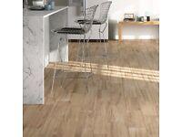Porcelain timber dark beige floor tiles 15x60 - 5 boxes £7.50per box