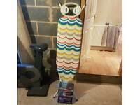 Ironing board and spare cover