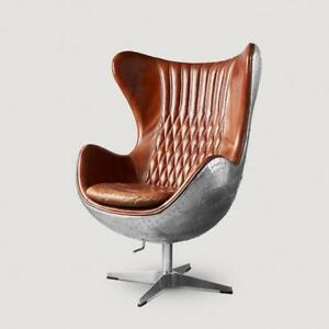 Aviator Egg Chair: Distressed Leather