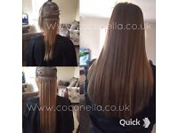 Russian Brazilian Indian virgin Remy Micro nano rings hot fusion mobile hair extensions from 140