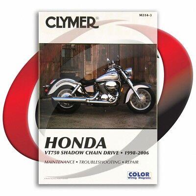 1998-2003 Honda VT750CD SHADOW ACE DELUXE Repair Manual Clymer M314-3 Service