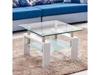Glass furniture coffee table MDF legs shelf storage living room furniture for more info message me
