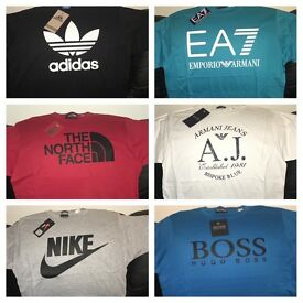 Men's T-Shirts - Hugo Boss Armani EA7 Nike Adidas The North face M-XXL