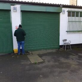 VERY SECURE SAMALL WORKSHOP UNIT WITH ROLLER SHUTTER AND ALARM