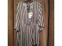 Missguided stripy play suite