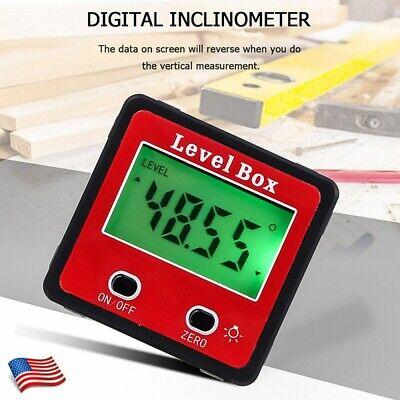 Lcd Backlight Mini Digital Level Angle Gauge Finder Protractor Inclinometer Usa