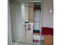 Large double mirrored wardrobe