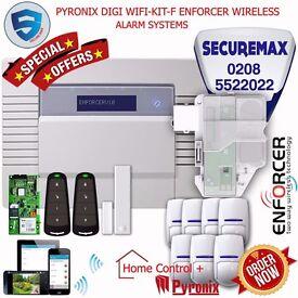 PYRONIX ENFORCER WIRELESS HOME ALARM SYSTEMS, DIGI WIFI-KIT-F UK STOCK!