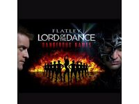 4x Lord Of The Dance, Dangerous Games tickets,25TH MARCH 2017, Edinburgh Playhouse,