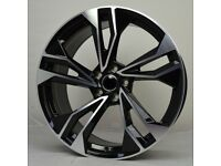 """19"""" New S5 Style Wheels & Tyres suitable for an Audi A3, A4, TT, VW Golf, Jetta, Caddy ETC"""