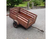 Trailer 5ft x 3ft Mahogany sides, Lights included