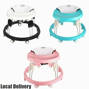 Portable Baby Walker Activity Toy First Step Push Along Walking Bouncer Safety