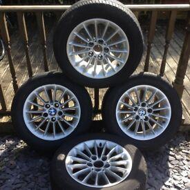 BMW 16inch Alloy wheels x 4 E39 5 series 2003 In good/fair condition.